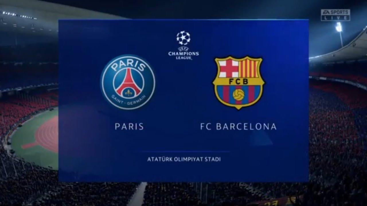 FIFA 2020 PS 4 || PSG VS Barcelona Europe Champions League ...