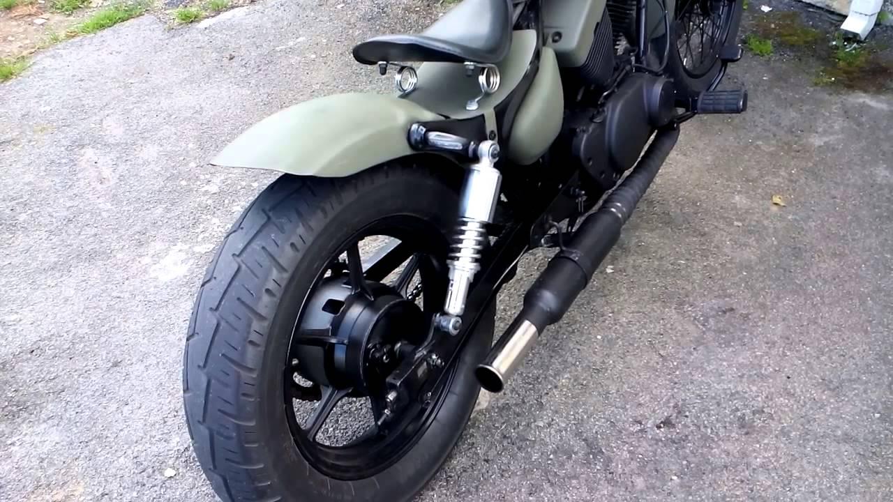 Yamaha Virago Xv125 Custom Single Exhaust With 2 5 Inch