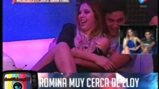 Romina y Eloy L muy cerca GH 2015