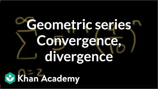 Geometric series convergence and divergence examples