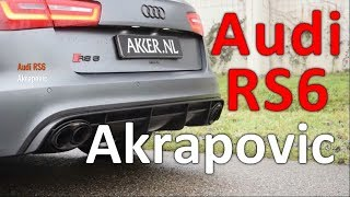 Audi Power - Audi RS6 Akrapovic Exhaust 😍💨👌