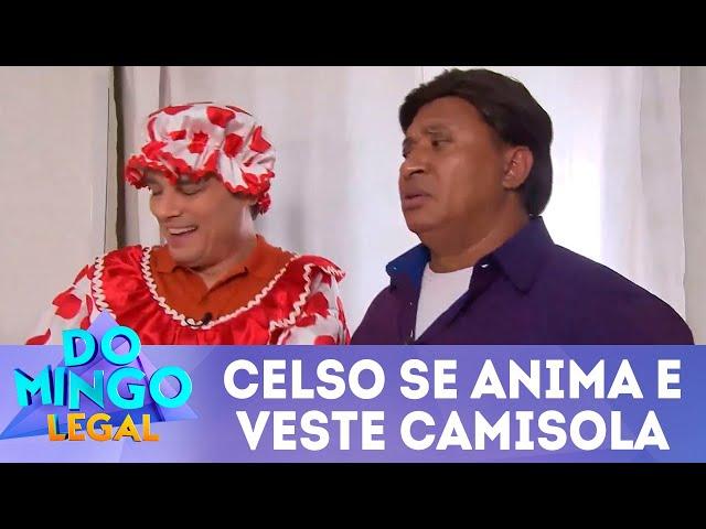 Celso se anima e veste camisola | Domingo Legal (11/11/18)