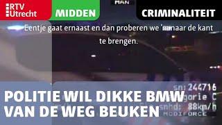 Politie wil dikke BMW van de weg beuken in Utrecht [RTV Utrecht]