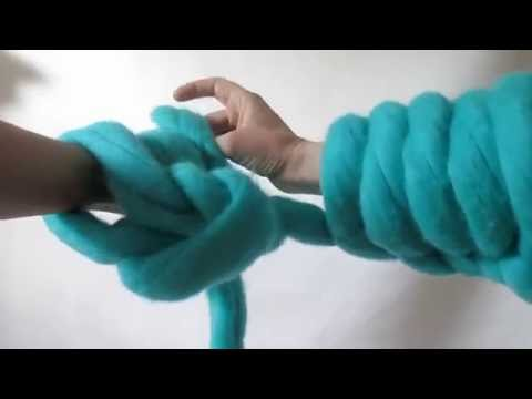Arm Knitting: The Super Easy Cast On