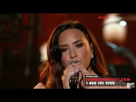 Demi Lovato Hallelujah at OneVoice Somos Live