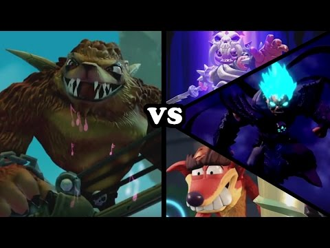 Skylanders Imaginators - Wolfgang VS All Bosses (Doomlanders, Super Kaos & Fake Crash)