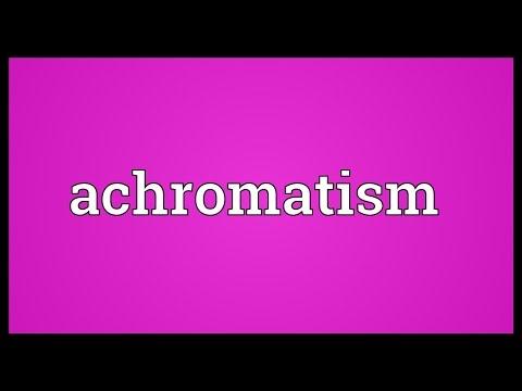 Header of achromatism