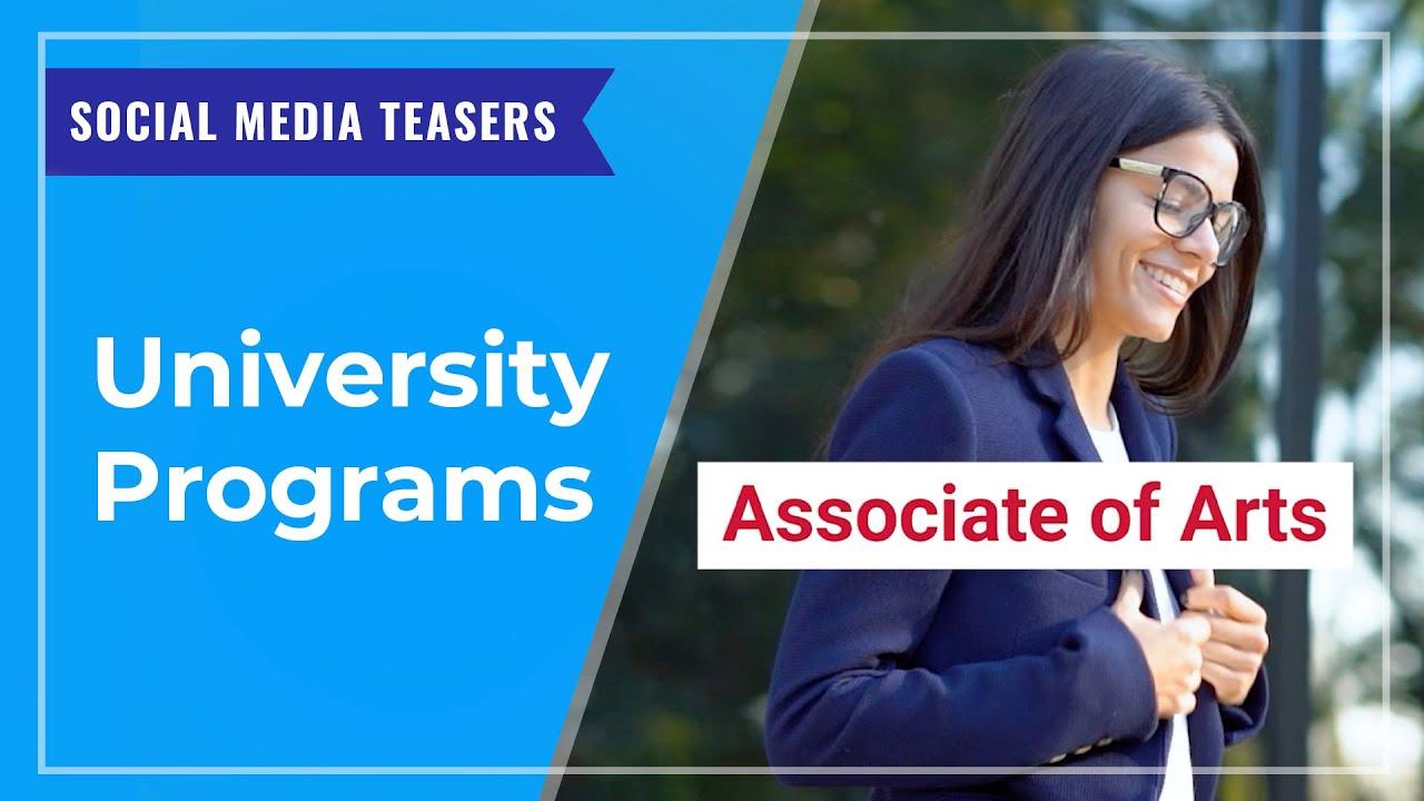 SOCIAL MEDIA TEASERS: University Programs at UCW