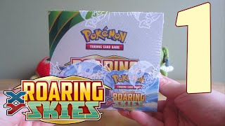 Opening a Pokémon Roaring Skies Booster Box - Part 1
