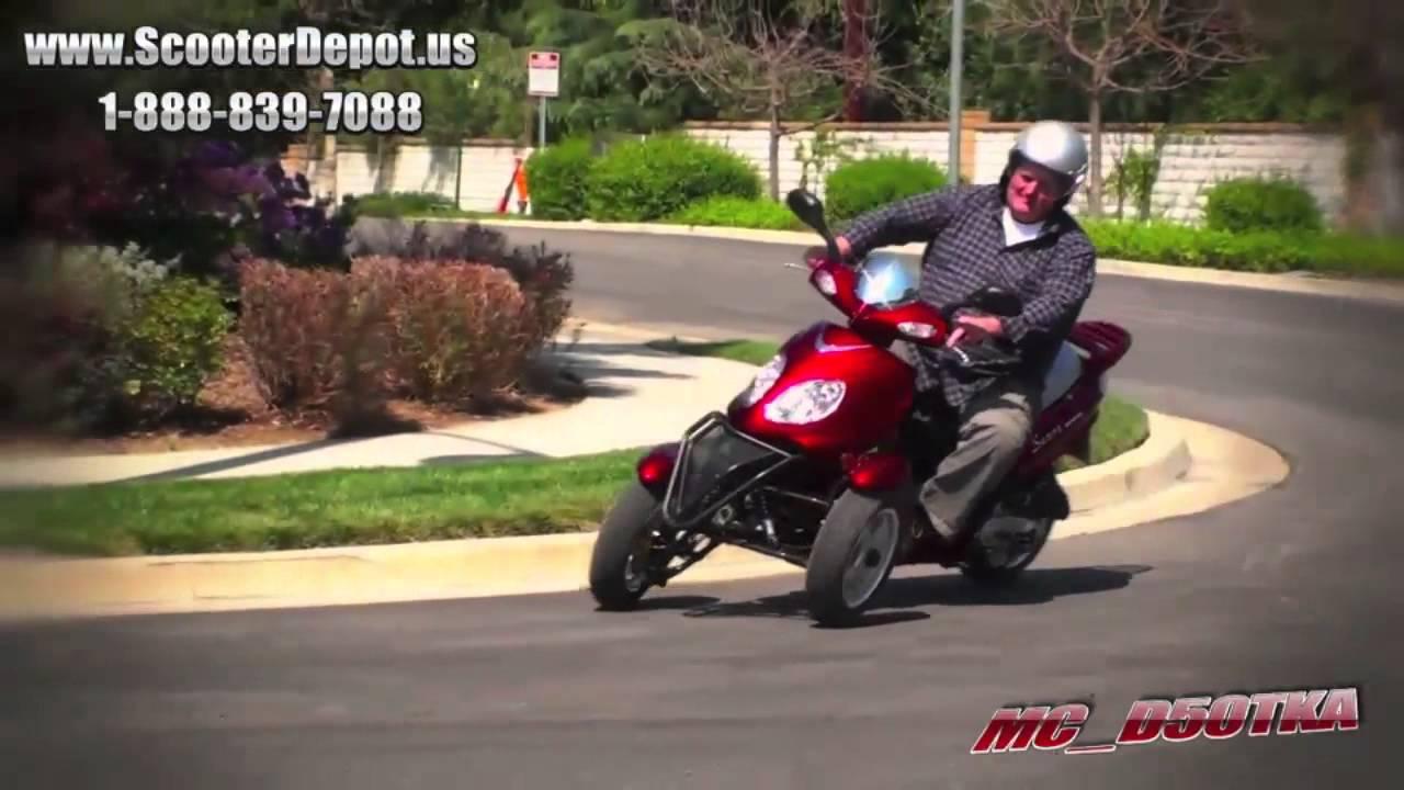 Mc D50tka Sunny 50cc Three Wheel Trike Scooter At Scooterdepot Us