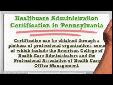 Healthcare Administration Degree in Pennsylvania PA - YouTube