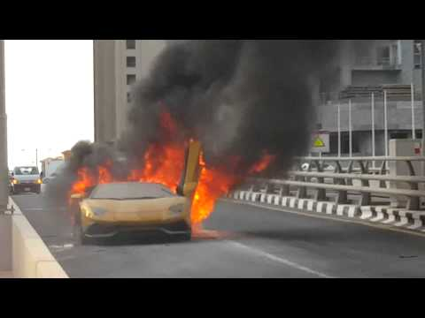 Flaming Lamborghini 2015