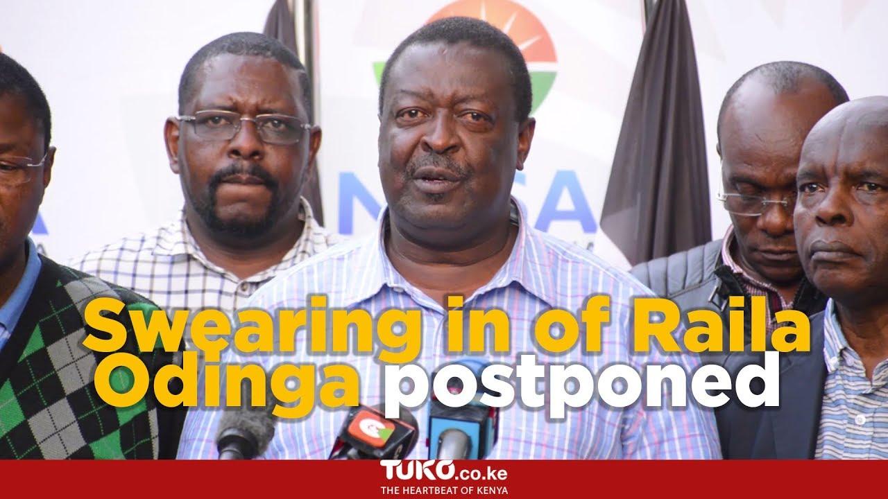 Swearing in of Raila Odinga postponed