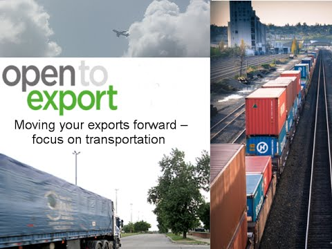 Webinar: moving your exports forward  focus on transportation