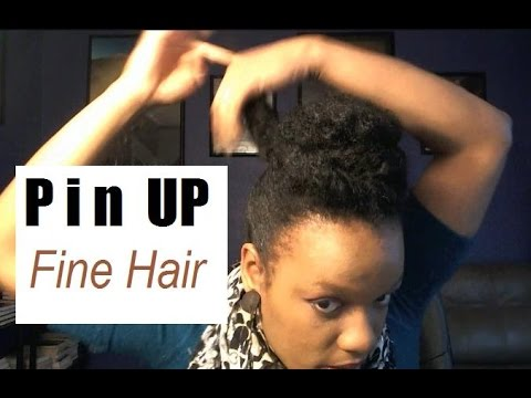 hairstyles for fine black natural hair quick pin up on