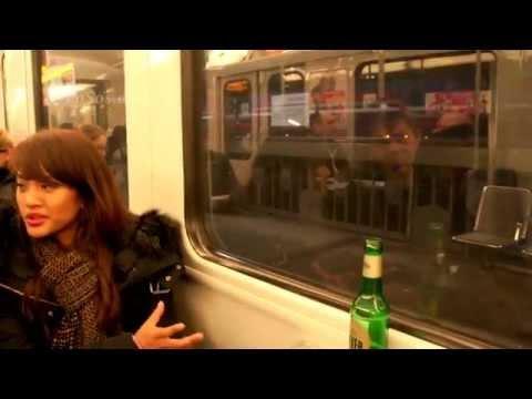 Hamburg Metro Train at Night