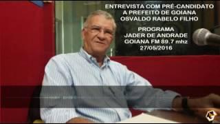 entrevista com o pre candidato a prefeito de goiana osvaldinho programa jader de andrade 89 7 27 0