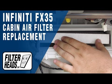 How to Replace Cabin Air Filter 2008 Infiniti FX35