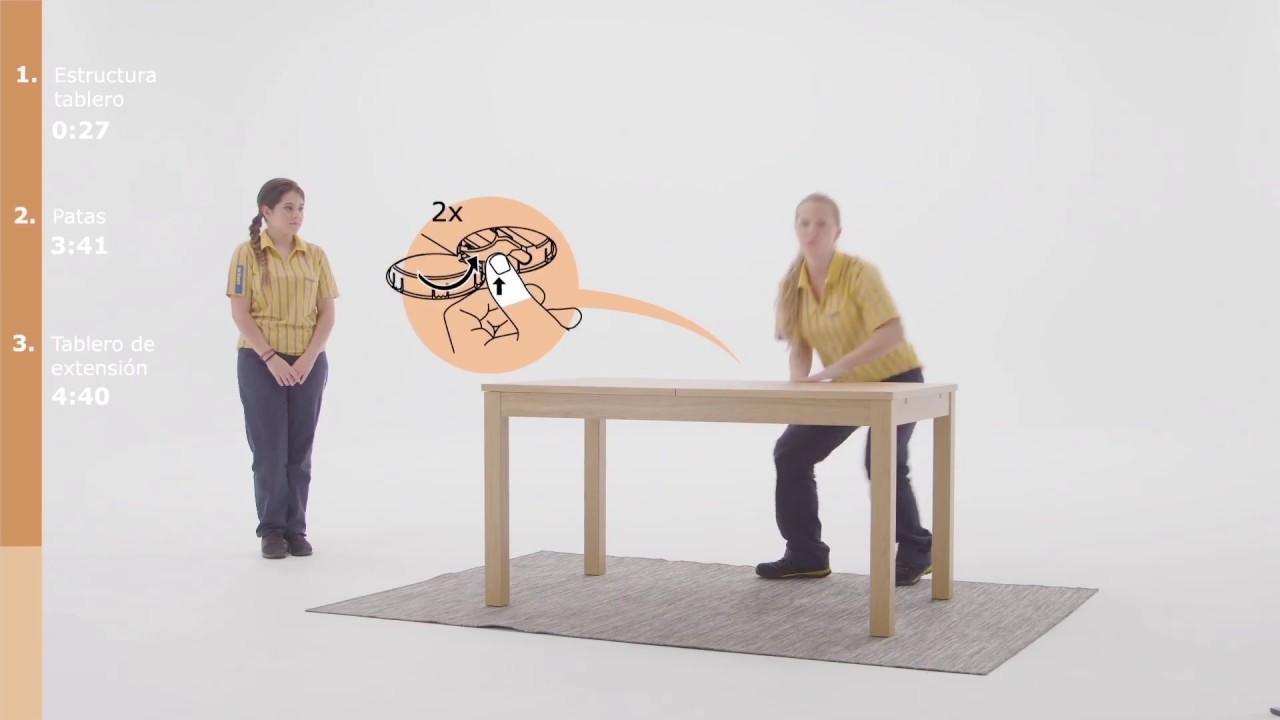 Instrucciones de montaje de la mesa BJURSTA - IKEA
