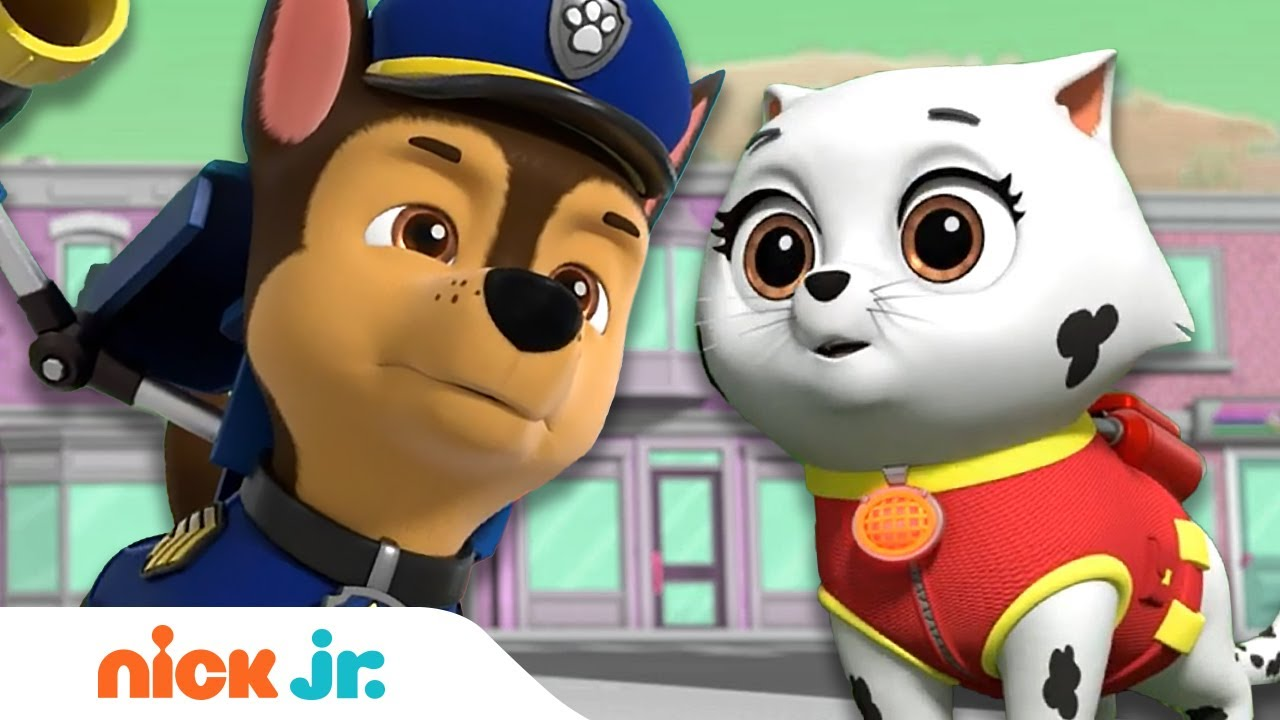 PAW Patrol vs. Mayor Humdinger's Barking Kitties! | Nick Jr.