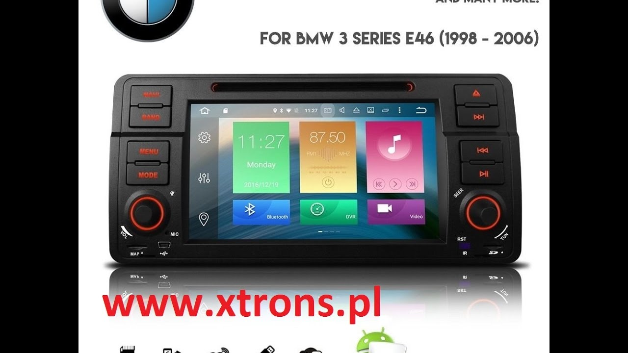 android 6 0 bmw e46 radio nawigacja octa core 8 rdzeni. Black Bedroom Furniture Sets. Home Design Ideas