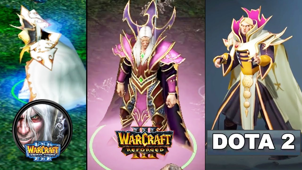 Dota 1 VS Dota 2 VS WarCraft 3 Reforged!