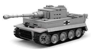 Lego WWII German Tiger I (Updated) Instructions with Parts List