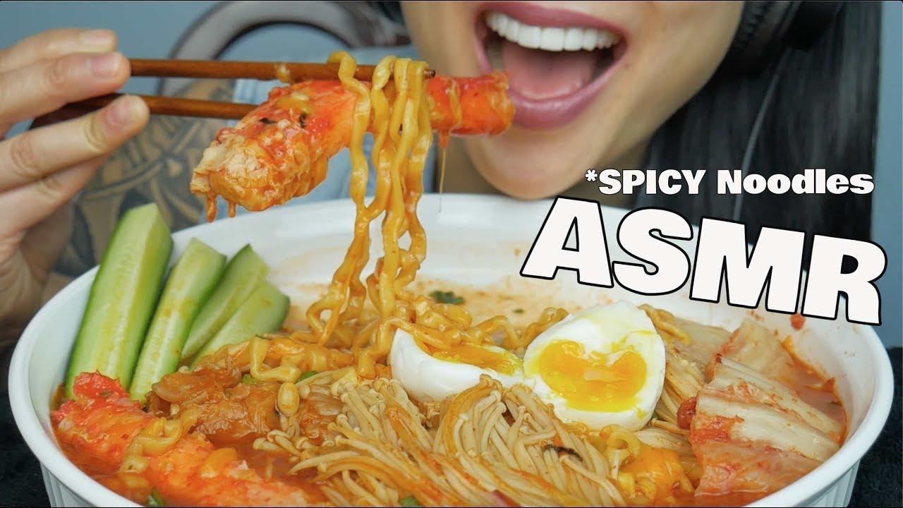 Asmr Spicy Noodles King Crab Legs Eating Sounds Sas Asmr Youtube Asmr pepperoni pizza ramen noodles soup college ramen recipe!! asmr spicy noodles king crab legs eating sounds sas asmr
