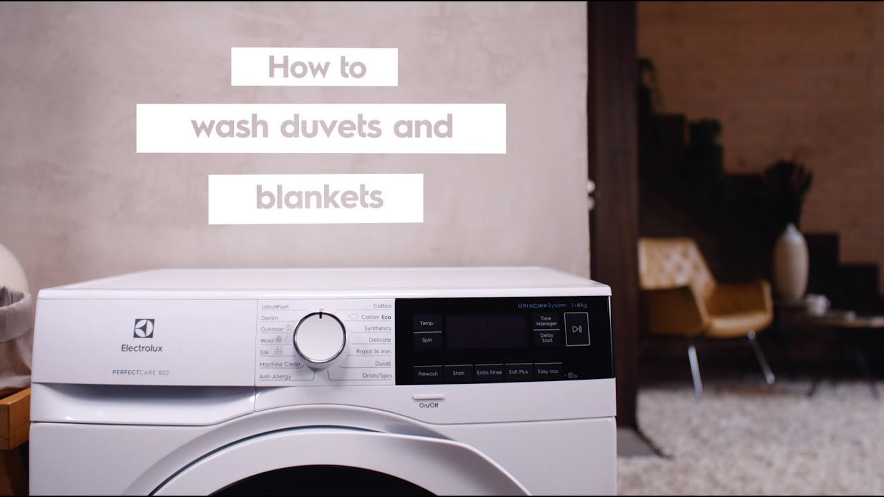 How To Wash Duvets At Home Electrolux Washing Machines Youtube
