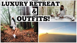 Weekend in my Life! OUTFITS & FACIALS in the MOUNTAINS!