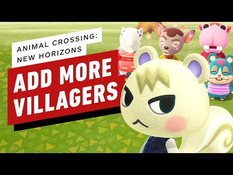 Animal Crossing New Horizons How To Add More Villagers To Your Town Youtube