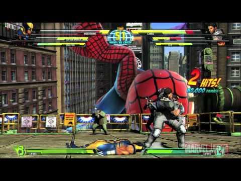 Marvel Vs. Capcom 3 Gameplay Video #1