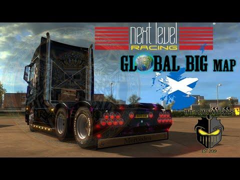 Euro Truck Simulator 2 Global Big Map BIG MODS