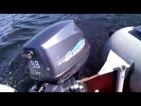 Проверка стойкости печати наклеек для лодочных моторв - YouTube