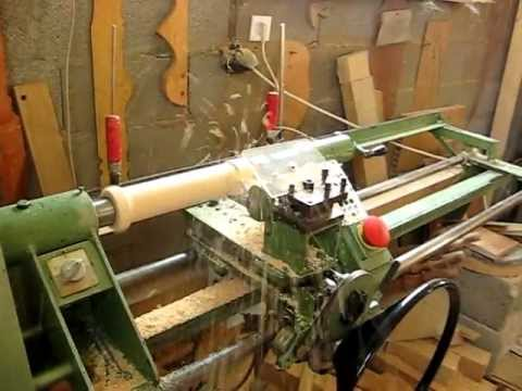 Semi Automatic Wood Lathe Avi Youtube