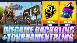 How To Get WeGame EXCLUSIVE Backblings! Fortnite Tournament + VBUCK PRIZE!