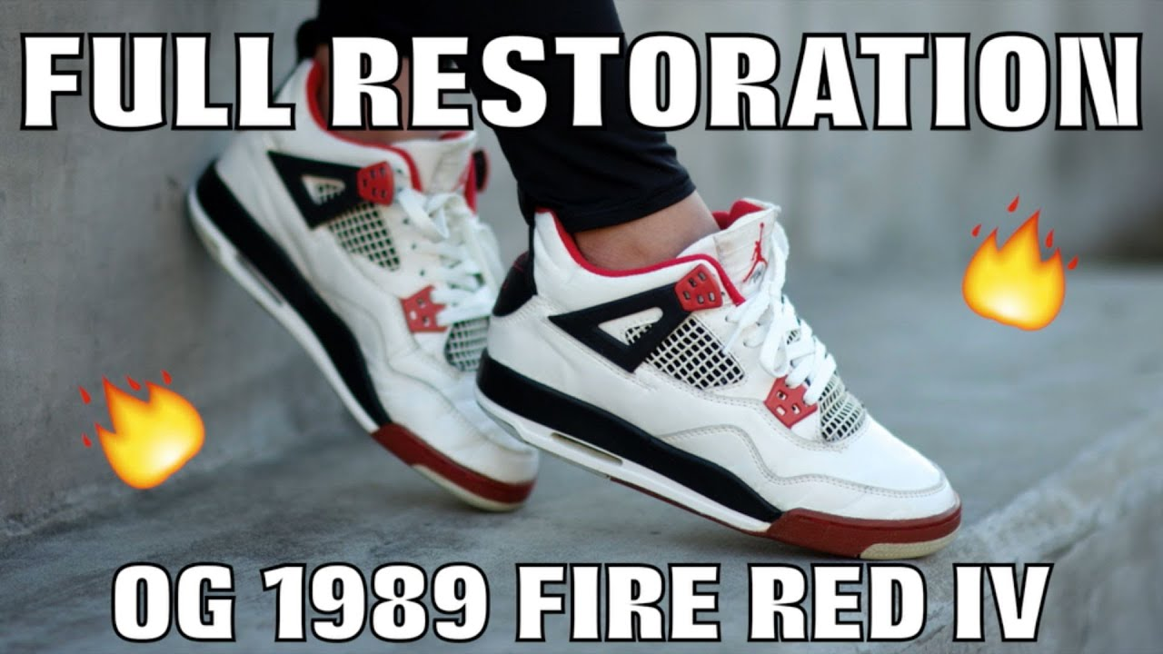 379f1ee9e23949 OG 1989 FIRE RED IV FULL RESTORATION - YouTube