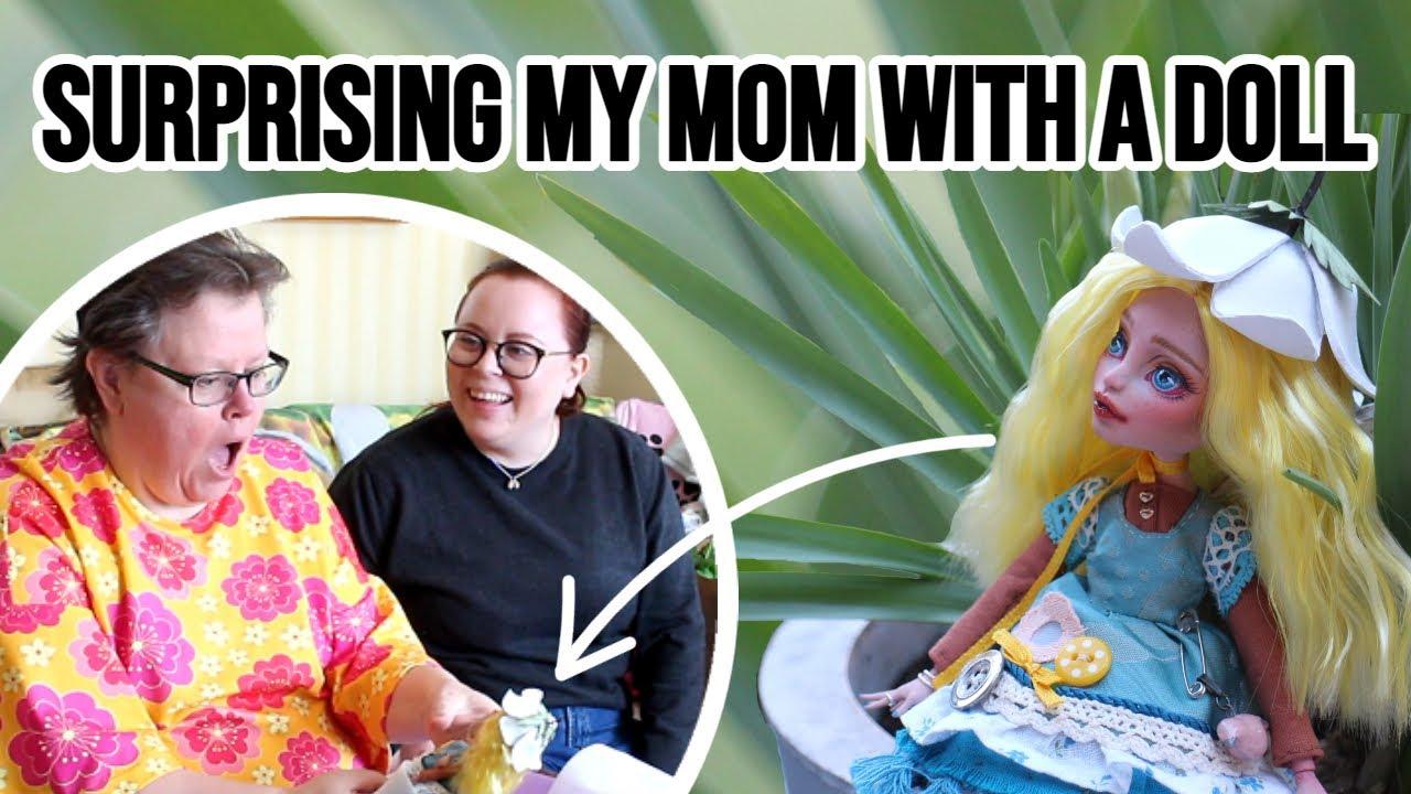 COTTAGECORE FAIRY doll repaint! + Moms REACTION!