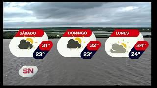 Pronóstico extendido. Lluvias y altas temperaturas.