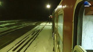 Glasul Rotilor de Tren in NoapteTrain Wheels Sound in Night in Apuseni Mountains - 24 Janu ...