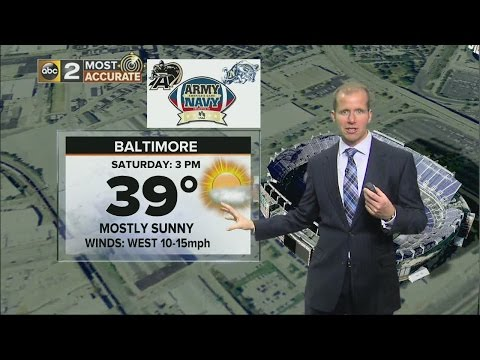 Cold Weekend for Army-Navy in Baltimore!