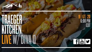 Traeger Kitchen Live #24 - Game Day Beef Sandwiches with Diva Q