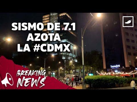 Fuerte sismo sacude a CDMX a 4 años del #7S    CHILANGO