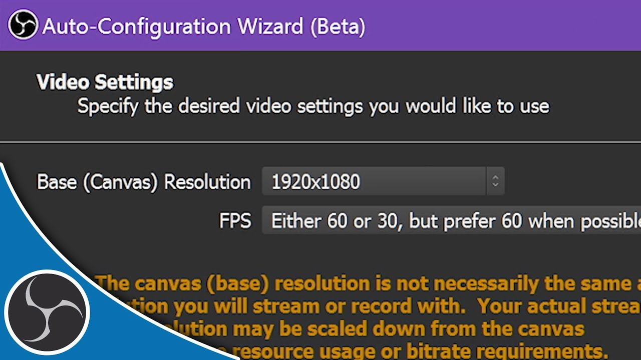 Obs Studio 103 Easy Setup With The Auto Configuration Wizard