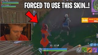 EPIC GAMES MAKES TFUE USE A SKIN! *NOT CLICKBAIT* (Fortnite Stream Highlights)