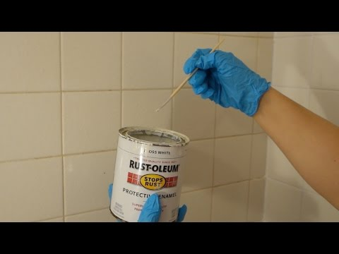 Make your dirty washroom tile grout look new again