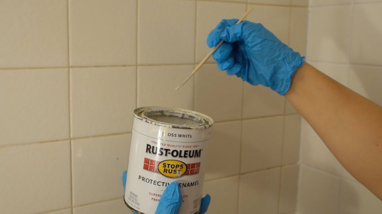 Make Your Dirty Washroom Tile Grout Look New Again Youtube