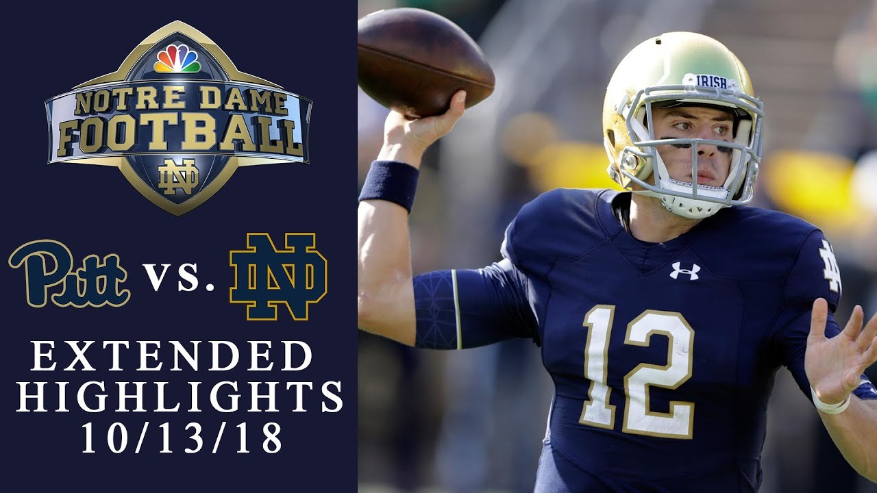 Pittsburgh vs. Notre Dame EXTENDED HIGHLIGHTS 10/13/18 I ...