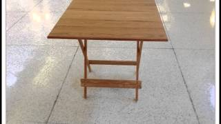 Oak Folding Card Table