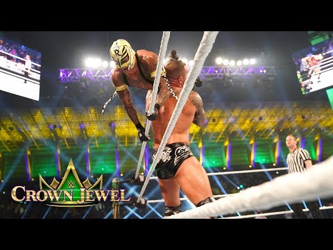 Rey Mysterio goes for the 619 against Randy Orton: WWE Crown Jewel 2018 (WWE Network Exclusive)